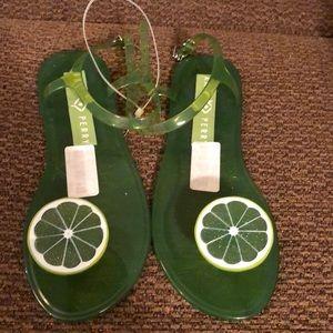Katy Perry Lime gellies. Women's size 9 (39)